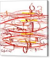 Modern Drawing Seventy Canvas Print
