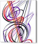 Modern Drawing Sixty-two Canvas Print