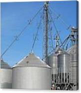 Modern Farm Storage And Towers Canvas Print