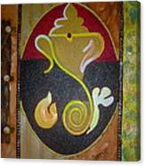 Mixed Media Ganesha Canvas Print