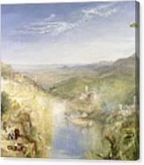 Modern Italy - The Pifferari, 1838 Canvas Print