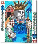 Modern King O' Spades Canvas Print