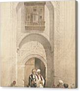 Modern Mansion, Showing The Arabesque Canvas Print