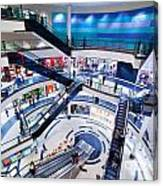 Modern Shopping Mall Interior Canvas Print