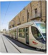Modern Tram In Jerusalem Israel Canvas Print