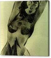 Modest Pose Canvas Print