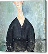 Modigliani's Cafe Singer Canvas Print