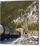 Moffat Tunnel East Portal At The Continental Divide In Colorado Canvas Print