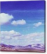 Mohave Desert Shadows Canvas Print