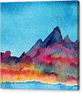 Mohave Mountains Canvas Print
