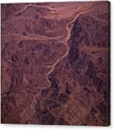 Mojave Desert Aerial Canvas Print