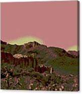 Mojave Desert In Mauve Canvas Print