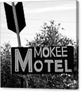 Mokee Motel Sign Circa 1950 Canvas Print
