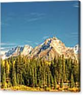 Molas Lake And The Needle Range Pan 2 Canvas Print