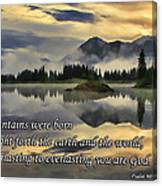 Molas Lake Sunrise With Scripture Canvas Print