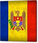 Moldova Flag Vintage Distressed Finish Canvas Print