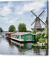 Molen Van Sloten And River Canvas Print