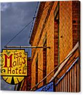 Miss Molly's Hotel Canvas Print
