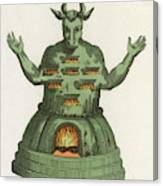 Moloch, The God Of The  Ammonites, An Canvas Print
