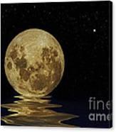 Molten Moon Canvas Print