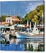 Molyvos Port Canvas Print