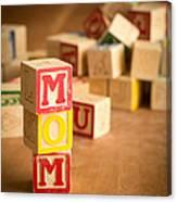 Mom Alphabet Blocks Canvas Print