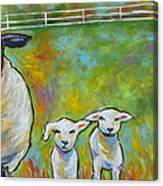 Mom And Kids Canvas Print