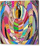 Mom Hugs Baby Crystal Stone Collage Layered In Small And Medium Sizes Variety Of Shades And Tones Fr Canvas Print