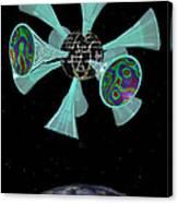 Momentary Sputnik 13  Canvas Print