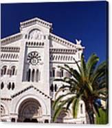 Monaco Cathedral Canvas Print