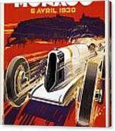 Monaco Grand Prix 1930 Canvas Print