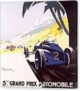 Monaco Grand Prix 1933 Canvas Print