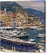 Monaco Panorama Canvas Print