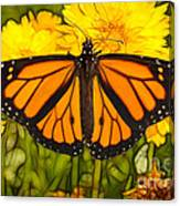 Monarch Batik Canvas Print