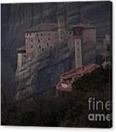 Monastary At Meteora  Greece   #9635 Canvas Print