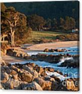 Monastery Beach In Carmel California Canvas Print