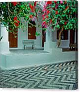 Monastery Symi Greece Canvas Print