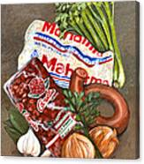 Monday's Tradition - Red Beans And Rice Canvas Print