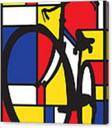 Mondrian Bike Canvas Print