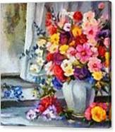 Monet Floral Edged Canvas Print