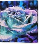 Monet Frosted Rose Canvas Print