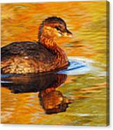 Monet Grebe Canvas Print