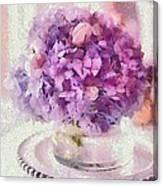 Monet Purple Pedestal Canvas Print