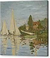 Monet Regattas At Argenteuil 1872 Canvas Print
