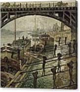 Monet The Coalmen 1875 Canvas Print
