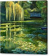 Monet Water Lily Garden IIi, Giverny, France Canvas Print