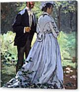 Monet's Bazille And Camille Canvas Print