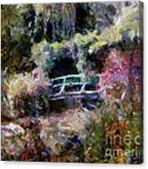 Monet's Bridge In Autumn Canvas Print