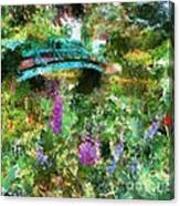 Monet's Bridge In Spring Canvas Print