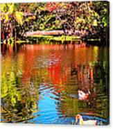 Monet's Garden In Hawaii 2 Canvas Print
